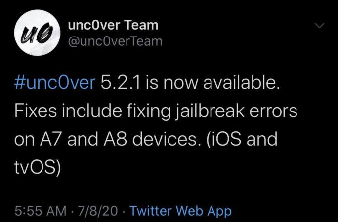 unc0ver5.2.1发布